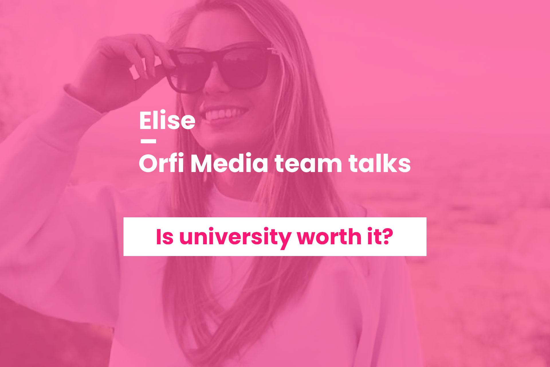 Orfi Media team talks Elise Milburn
